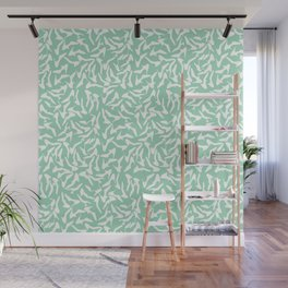 Shoes White on Mint Wall Mural