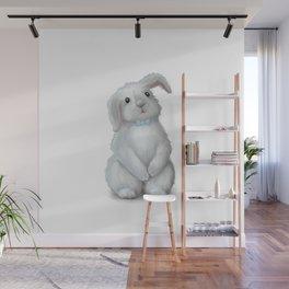 White Rabbit Boy Wall Mural