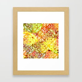 Fruity geometric abstract Framed Art Print