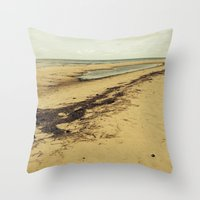calcifer Throw Pillows featuring Sandbar by Calcifer