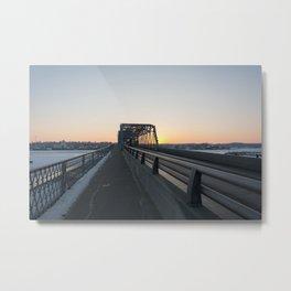 Valentine's bridge sunset Metal Print
