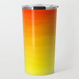 Red to Yellow Sunset Travel Mug