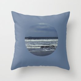 Blue sea, blue sky Throw Pillow
