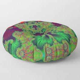 Psychedelic Centrepiece - Mirrored Fractal Art Floor Pillow