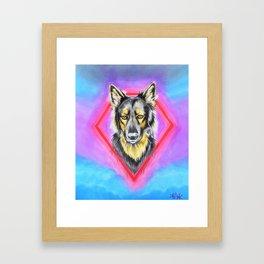 Koba the German Shepherd Dog Framed Art Print