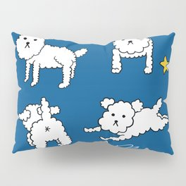 four shades of poodle Pillow Sham