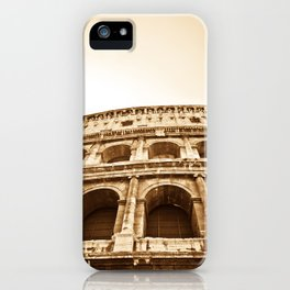 Roman Colosseum in Sepia iPhone Case