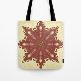 Neha | Red Gold Mandala Tote Bag