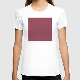 Red (Rouge) Magenta Tres Petit Geometric Pattern T-shirt