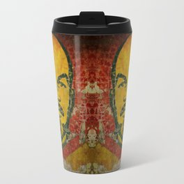 Goodbye Lenin fresco in the ex Soviet military base in Latvia  Travel Mug