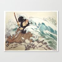 bouletcorp Canvas Prints featuring Tsunami by Bouletcorp