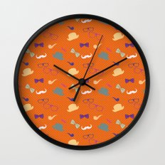 Hipster Pattern Wall Clock