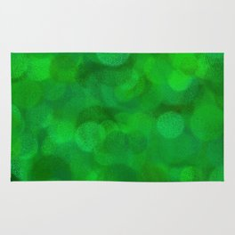 Fresh Bright Moss Green Abstract Rug