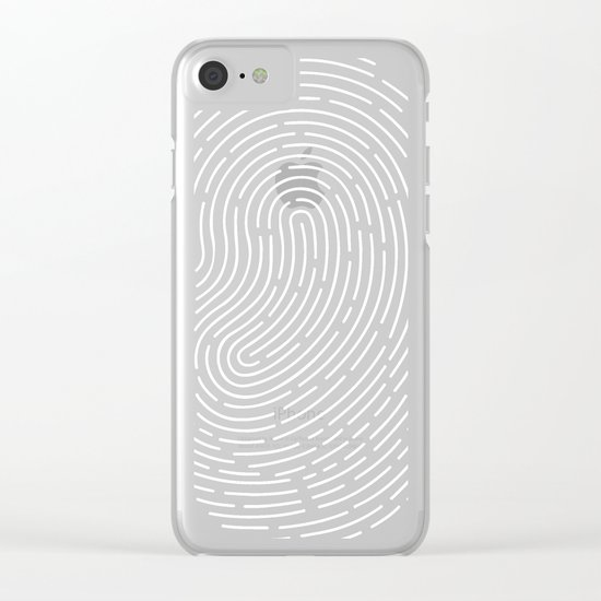 Fingerprint Clear iPhone Case