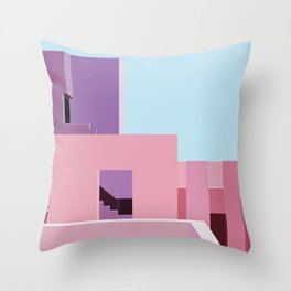 The Red Wall Throw Pillow
