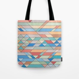 Triangle Pattern no.2 Colorful Tote Bag