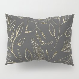 Holiday grey and gold Pillow Sham