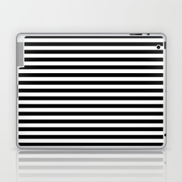 Stripe Black And White Vertical Line Bold Minimalism Laptop & iPad Skin