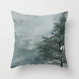 secret places of ghostly fairy-6 Throw Pillow
