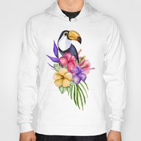 toucan Hoodies featuring Toucan by Julia Badeeva