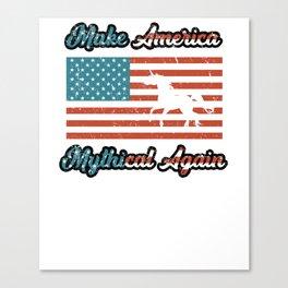 Make America Mythical Again Unicron Flag Canvas Print