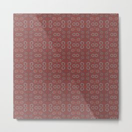 Find the rabbit, gray and terracotta abstract pattern Metal Print