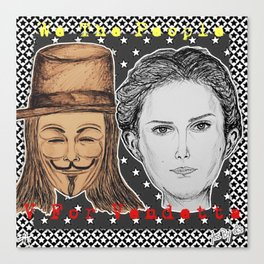(Vendetta - We The People) - yks by ofs珊 Canvas Print