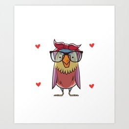 Just A Girl Who loves Cute Owls Owl Girls  Art Print