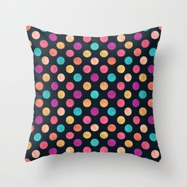 Watercolor Dots Pattern VI Throw Pillow