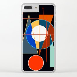 Black Geometric Abstract Composition Suprematist Clear iPhone Case
