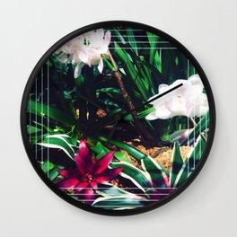 Geometric Flora  Wall Clock