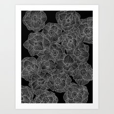 In Bloom (b&w) Art Print