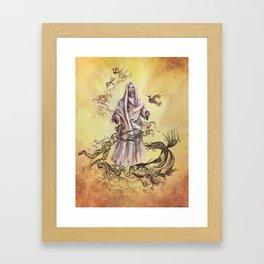 Jesus Christ and Religious Symbols Framed Art Print