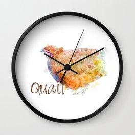 Quail Wall Clock