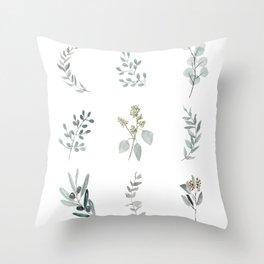 Botanical elements Throw Pillow