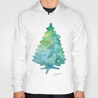 christmas tree Hoodies featuring Christmas Tree by Elena Sandovici