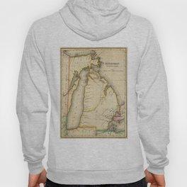 Vintage Map of Michigan (1822) Hoody
