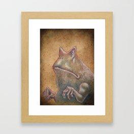 Medieval monster XIII Framed Art Print