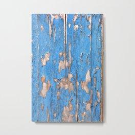 Flaky Blue 61 Metal Print