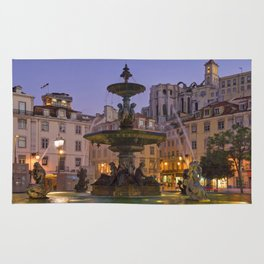Rossio fountain, Lisbon Rug