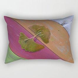 Ginko Leaves on Table Rectangular Pillow