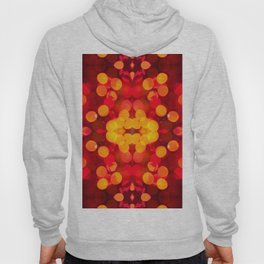 Red yellow sparkles and circles bokeh abstract Hoody