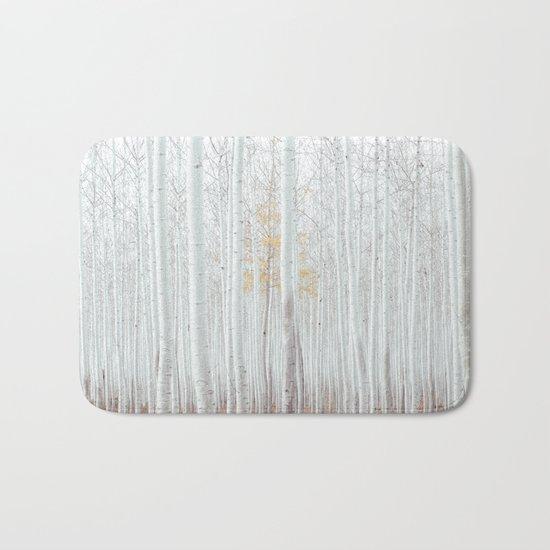 White tree forest Bath Mat