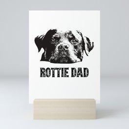 Rottie Dad Rottweiler Mini Art Print