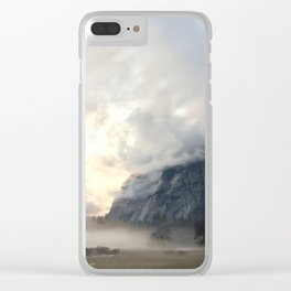 Yosemite Valley Mist Clear iPhone Case