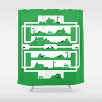 farm Shower Curtains featuring ant farm by Gray