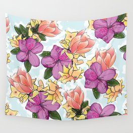 the magnolia Wall Tapestry