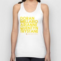 martell Tank Tops featuring Doran Martell Typography series II by P3RF3KT