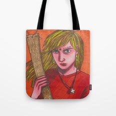 Plank Girl Tote Bag