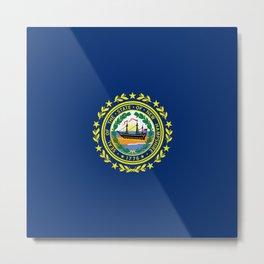 New Hampshire State Flag Patriotic Design Metal Print